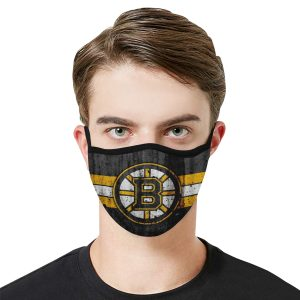 Boston Bruins hockey Face Mask Antibacterial Fabric 1