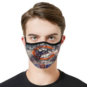 Chicago bears football Antibacterial Fabric face mask 1