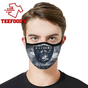 Oakland Raiders Face Mask Antibacterial Fabric 1
